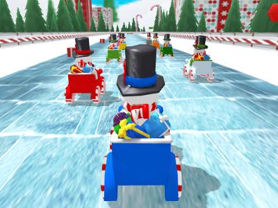 Snowman Christmas Racing