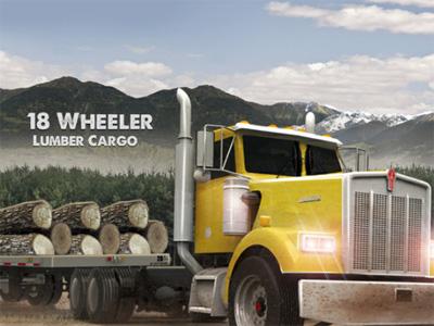 Online hra 18 Wheeler Lumber Cargo
