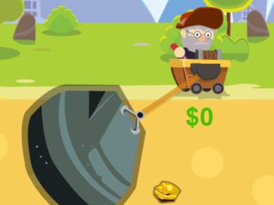 Online hra Gold Miner Bros 2