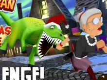 Online Game Angry Gran Run Christmas Village