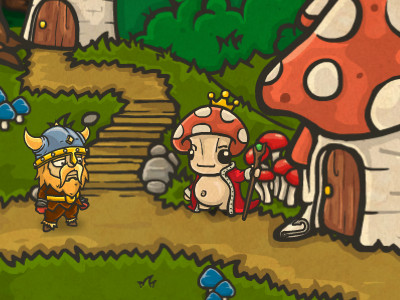 Online hra Bad Viking and the Curse of the Mushroom King
