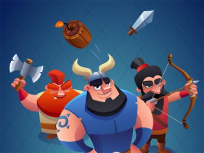 Juego en línea Clash of Vikings