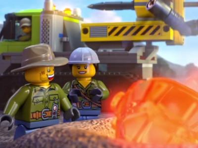 Lego Volcano Interactive