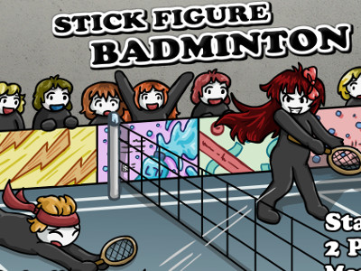 Stick Figure Badminton 3
