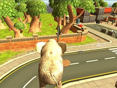 Wild Animal Zoo City Simulator