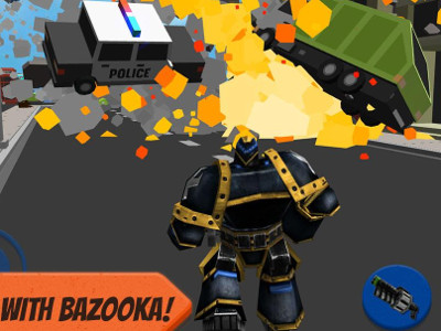 Robot Hero: City Simulator 3D