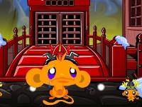 Online hra Monkey Go Happy Ninjas 3