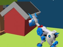 Online hra Robot Dog City Simulator